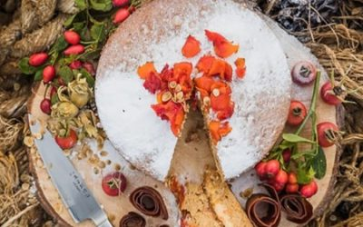 Rosehip, orange and hogweed spiced cake – November